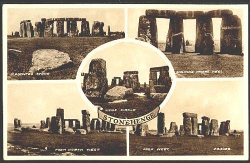 Stonehenge BW postcard